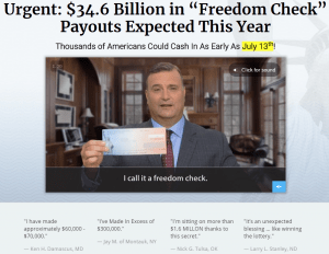 us freedom checks 2018 vsl