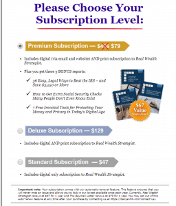 US freedom checks 2018 subscriptions