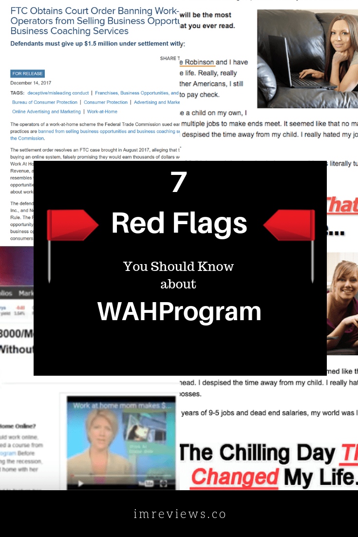 Is the WAH program or WHA program a scam?. It looks like a legit work at home opportunity but there are red flags I am want to make you aware of.
