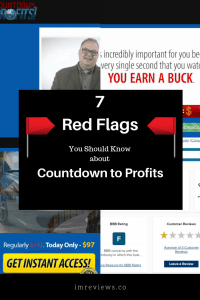 Is the Countdown to Profits a scam? It appears to be using deceptive practices and there are some red flags I am want to make you aware of.