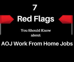 AOJ Work From Home Jobs Red Flag Header